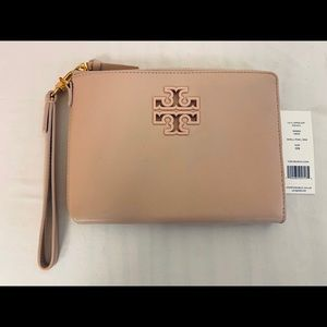 Tory Burch Lily Large Zip Leather Pouch Wallet